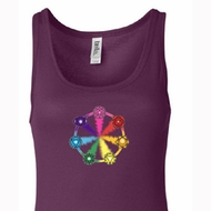 Ladies Yoga Tanktop 7 Chakra Circle Longer Length Tank Top