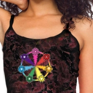 Ladies Yoga Tanktop 7 Chakra Circle Tie Dye Tank Top