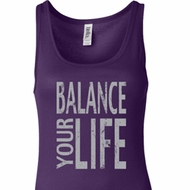 Ladies Yoga Tanktop Balance Your Life Longer Length Tank Top