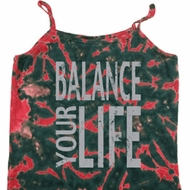 Ladies Yoga Tanktop Balance Your Life Tie Dye Camisole Tank Top