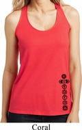 Ladies Yoga Tanktop Black 7 Chakras Bottom Print Loop Back Tank Top