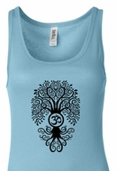 Ladies Yoga Tanktop Black Bodhi Tree Longer Length Tank Top