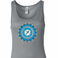Ladies Yoga Tanktop Blue Vishuddha Longer Length Tank