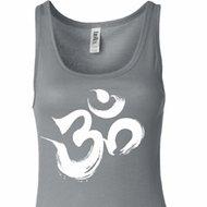 Ladies Yoga Tanktop Brushstroke Aum Longer Length Tank Top