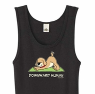 Ladies Yoga Tanktop Downward Human Organic Tank Top
