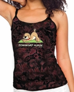 Ladies Yoga Tanktop Downward Human Tie Dye Tank Top
