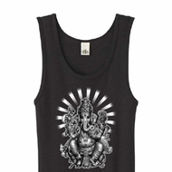 Ladies Yoga Tanktop Ganesha Black Organic Tank Top
