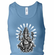 Ladies Yoga Tanktop Ganesha Longer Length Racerback Tank Top