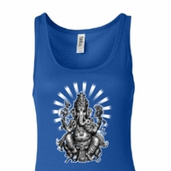 Ladies Yoga Tanktop Ganesha Longer Length Tank Top
