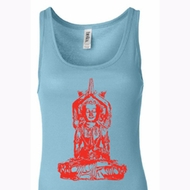Ladies Yoga Tanktop Red Tara Longer Length Tank Top