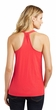 Ladies Yoga Tanktop Shadow Buddha Coral Loop Back Tank Top