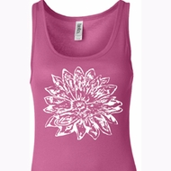 Ladies Yoga Tanktop Sketch Lotus Longer Length Tank Top