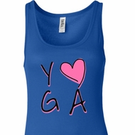 Ladies Yoga Tanktop Yoga Love Longer Length Tank Top