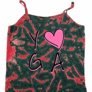 Ladies Yoga Tanktop Yoga Love Tie Dye Camisole Tank Top