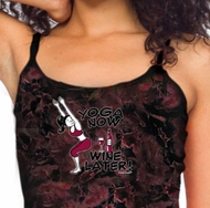 Ladies Yoga Tanktop Yoga Now Wine Later Tie Dye Tank Top