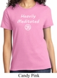 Ladies Yoga Tee Heavily Meditated with OM T-shirt