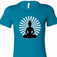 Ladies Yoga Tee Meditating Buddha Longer Length Shirt