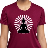 Ladies Yoga Tee Meditating Buddha Moisture Wicking T-shirt