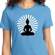Ladies Yoga Tee Meditating Buddha T-shirt