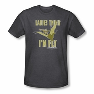 Land Before Time Shirt I'm Fly Adult Heather Charcoal Tee T-Shirt