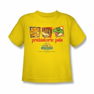 Land Before Time Shirt Kids Prehistoric Pals Yellow Youth Tee T-Shirt