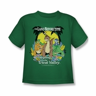Land Before Time Shirt Kids The Great Valley Kelly Green Youth Tee T-Shirt