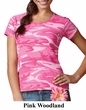 LAT Ladies Shirt Vintage Urban Camouflage Cotton T-Shirt Tee
