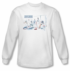 Law & Order: SVU Shirt Dominos Long Sleeve White Tee T-Shirt