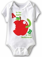 Learning Letters Funny Baby Romper White Infant Babies Creeper