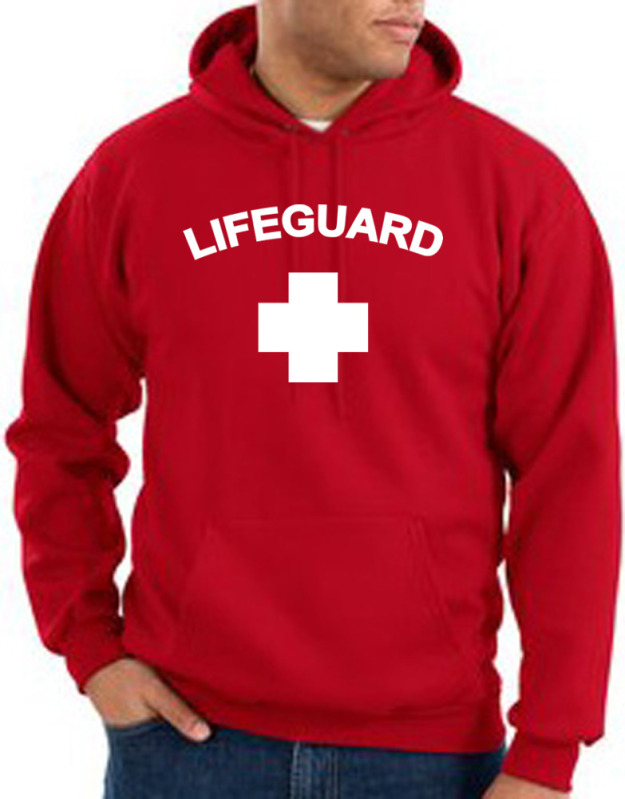 Lifeguard Hoodie Hooded Sweatshirt Adult Hoody - Lifeguard Mens Shirts