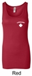 Lifeguard Ladies Longer Length Tank Top Pocket Print