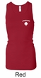 Lifeguard Ladies Tank Top Longer Length Racerback Tank Pocket Print