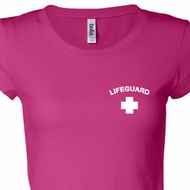 Lifeguard Pocket Print Ladies Shirts