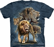 Lion Shirt Tie Dye T-shirt Collage Adult Tee