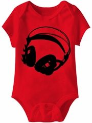 Listen Up Funny Baby Romper Red Infant Babies Creeper