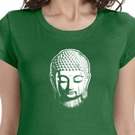 Little Buddha Head Ladies Yoga Shirts