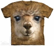 Llama Face Shirt Tie Dye Adult T-Shirt Tee