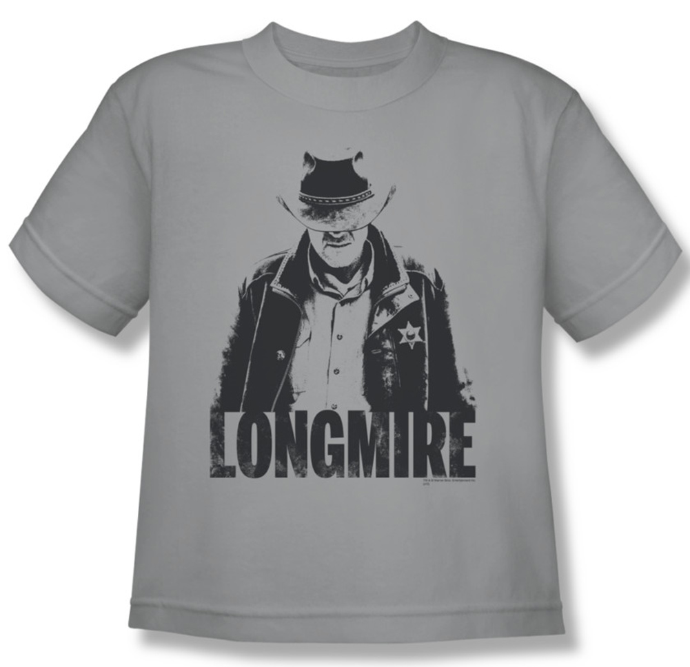 Longmire shirt kids one color silver youth tee t shirt for One color t shirt