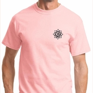 Black Lotus OM Patch Mens Yoga Shirts