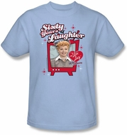 Lucy Shirt - Sixty Years of Laughter Adult Light Blue Tee