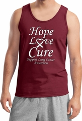 Lung Cancer Tank Top Hope Love Cure Tanktop