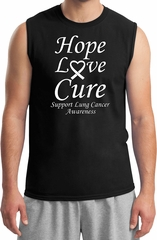 Lung Cancer Tee Hope Love Cure Muscle Shirt