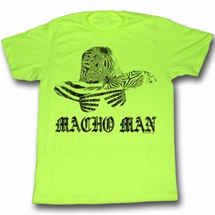 Macho Man Shirt Macho Hat Adult Bright Green Tee T-Shirt