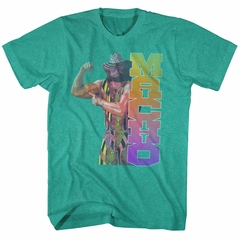 Macho Man Shirt Macho Muscle Teal T-Shirt