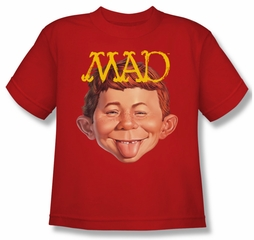 Mad Magazine Kids Shirt Absolutely Mad Red Youth T-Shirt