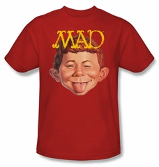Mad Magazine Shirt Absolutely Mad Adult Red Tee T-Shirt