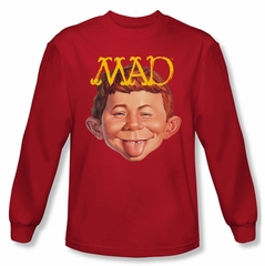Mad Magazine Shirt Absolutely Mad Long Sleeve Red Tee T-Shirt