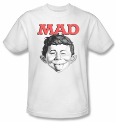 Mad Magazine Shirt U Mad Adult White Tee T-Shirt