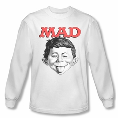 Mad Magazine Shirt U Mad Long Sleeve White Tee T-Shirt