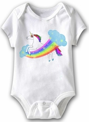 Magical Unicorn Funny Baby Romper White Infant Babies Creeper